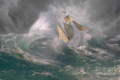 Danger At Sea Art Print by Ron Sanford