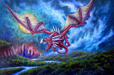 Danger In The Sky Art Print