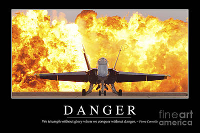 Danger Inspirational Quote Art Print by Stocktrek Images