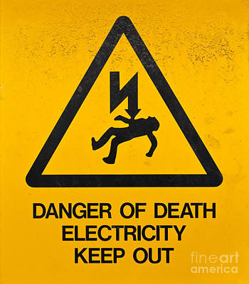 Electricity Drawing - Danger Of Death - Electricity by Shawn Hempel