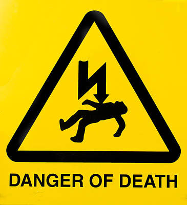 Danger Of Death Art Print