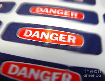 Sticker Photograph - Danger by Olivier Le Queinec