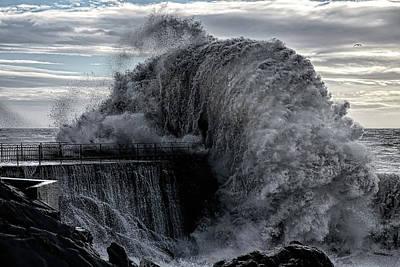 Geneva Photograph - Danger Pier by Roberto Zanleone