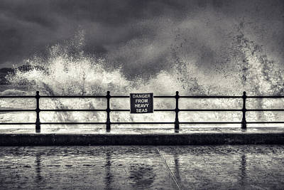 Scarborough Photograph - Danger by Samuel Whitton