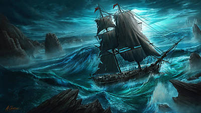 Digital Art - Dangerous Seas by Anthony Christou