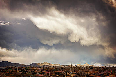 Photograph - Dangerous Sky In Santa Fe by Dave Garner