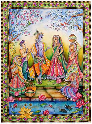Madhubani Painting - Danghaati by Gaura Aggarwal