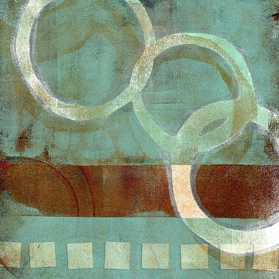 Print Mixed Media - Dangling Conversation Monoprint by Carol Leigh