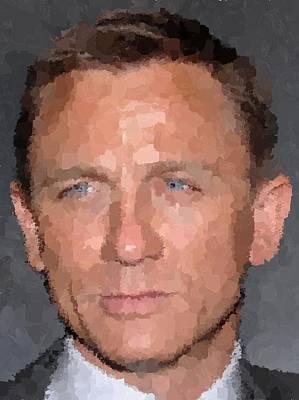 Painting - Daniel Craig Portrait by Samuel Majcen