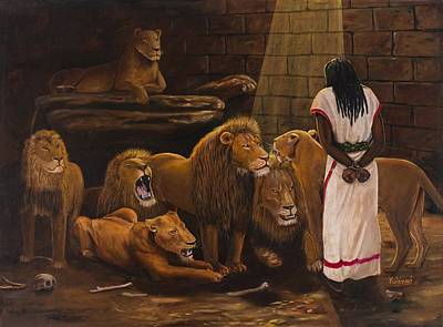 Daniel In The Lions Den Original by Kolongi Brathwaite