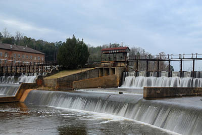 Photograph - Daniel Pratt Cotton Mill Dam Prattville Alabama by Charles Beeler