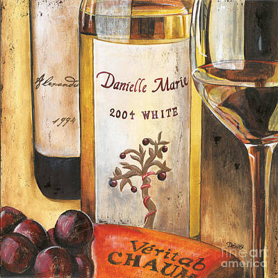 White Wine Painting - Danielle Marie 2004 by Debbie DeWitt