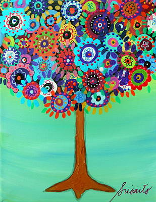 Painting - Danielle's Tree Of Life by Pristine Cartera Turkus