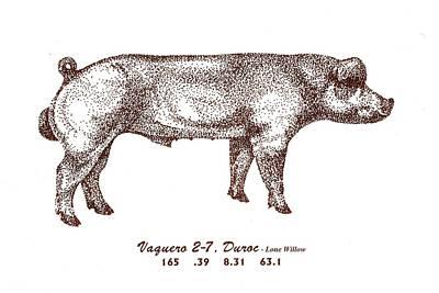 Danish Duroc Art Print