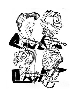 Danish String Quartet Art Print by Tom Bachtell