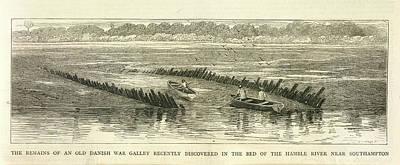 Danish War Galley Art Print by British Library
