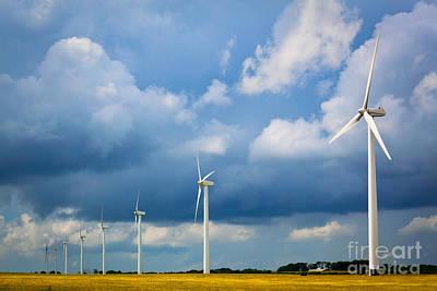 Wind Turbine Photograph - Danish Wind Turbines by Inge Johnsson