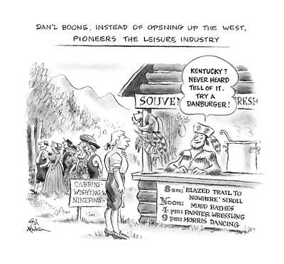 Dan'l Boone Art Print by Ed Fisher