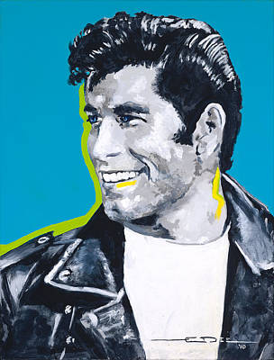 John Travolta Painting - Danny Loves Sandy by Eric Dee