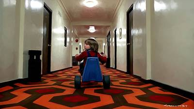 Digital Art - Danny Torrance In Hotel Overlook by Gabriel T Toro