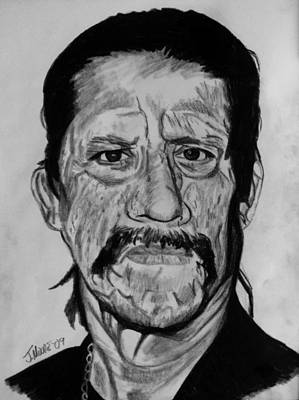 Hispanic Drawing - Danny Trejo by Jeremy Moore
