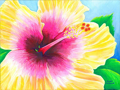 Painting - Dan's Hibiscus by Adam Johnson