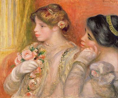 Dans La Loge, C.1908 Oil On Canvas Art Print by Pierre Auguste Renoir