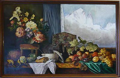Chamonix Painting - Dans Le Chalet by Danielle Arnal