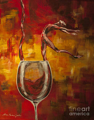Painting - Dans Le Vin Signet by Lisa Owen-Lynch
