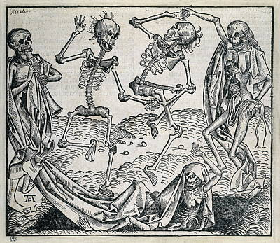 Danse Macabre Or Dance Of Death 1493 Art Print by Everett
