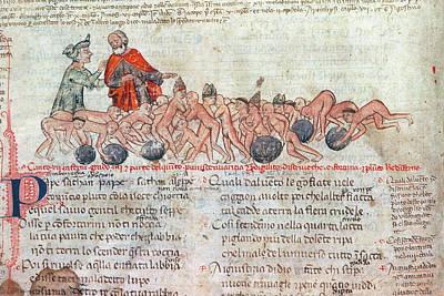 Purgatory Painting - Dante & Virgil, 14th Cent by Granger
