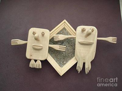 Handmade Sculpture - Dante And Biatriche by Nikolay Ilchevski