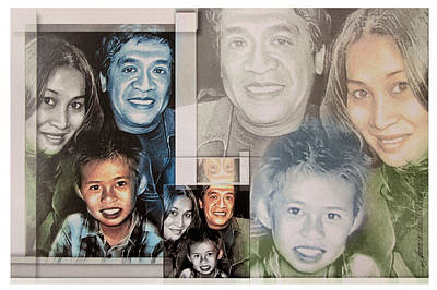 Mixed Media - Dante-fam 2013 by Glenn Bautista
