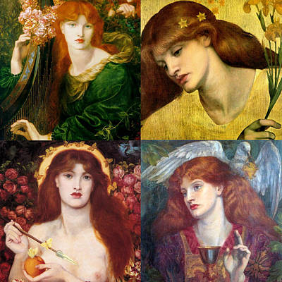 Dante Gabriel Rossetti Collage Art Print by Philip Ralley