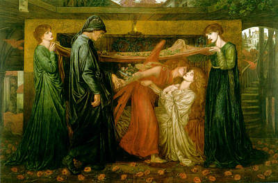 Dantes Dream At The Time Of The Death Of Beatrice 1856 Print by Philip Ralley