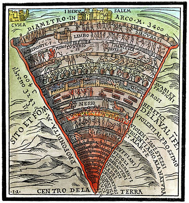 Painting - Dante's Inferno, C1520 by Granger