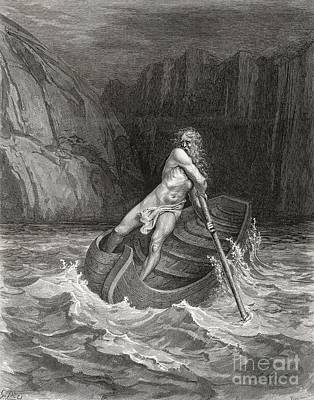 Dante's Inferno, Charon On The Styx Art Print by Middle Temple Library