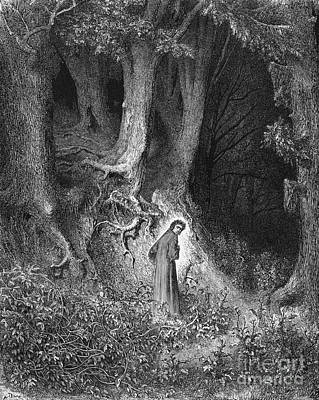 Inferno Photograph - Dante's Inferno, The Gloomy Wood by Middle Temple Library