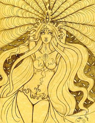Danu Rising Sketch Art Print by Coriander  Shea