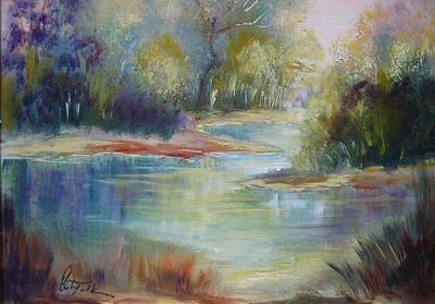 Painting - Danube Floodplain Forest by Christa Friedl