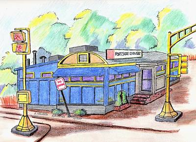 Danvers Port Diner Art Print by Paul Meinerth
