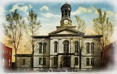 Photograph - Danville Courthouse 1873-1927 by Lisa and Norman  Hall