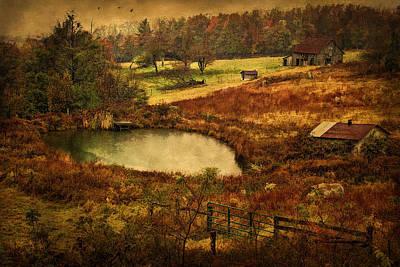 Warm Digital Art - Danville Pike Farm by Priscilla Burgers