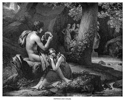 Daphnis And Chloe Art Print by Gerard Artist - Richomme Engraver