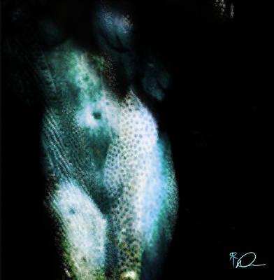 Dappled Light Drawing - Dapped Nude by David Derr