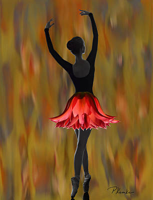 Digital Art - Dappled Flame by Patricia Kemke