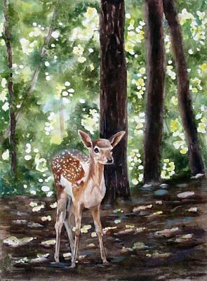 Dappled Innocence Art Print by Mary McCullah
