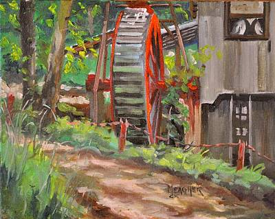 Grist Mill Painting - Dappled Road by Spencer Meagher