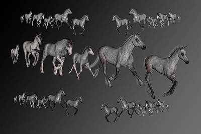 Gelding Digital Art - Dapples by Betsy Knapp