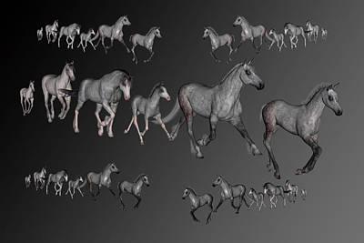 Animals Digital Art - Dapples by Betsy Knapp